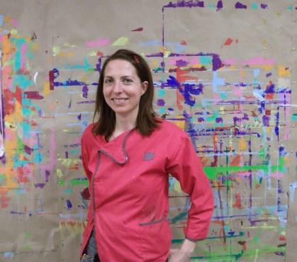 Portrait de Charlotte Faber dans son atelier