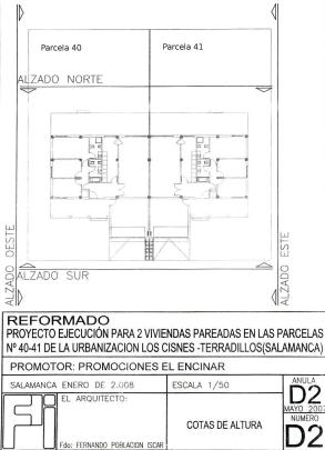Plano chalet pareado