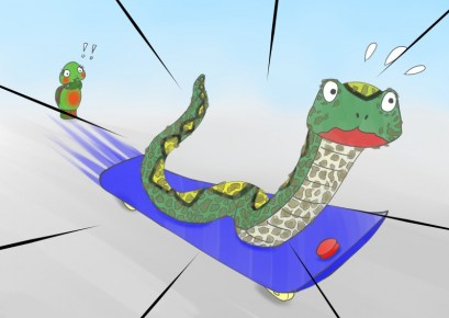 Adam and the Snakeboard