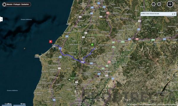 Distance to the beach Foz do Arelho 50km