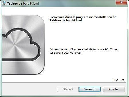 Capture d'écran - Installation de iCloud pour PC, étape n°1