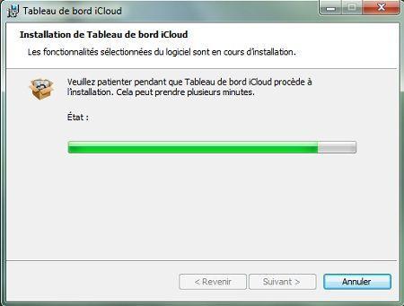 Capture d'écran - Installation de iCloud pour PC, étape n°3