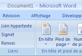 Insertion dune équation dans Word 2007