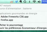 Etat de la batterie du Macbook Pro - Mavericks