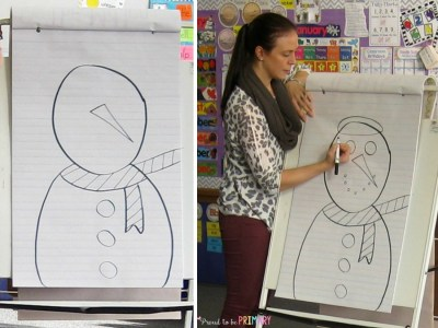 A Snowman Drawing Activity for your Classroom Walls