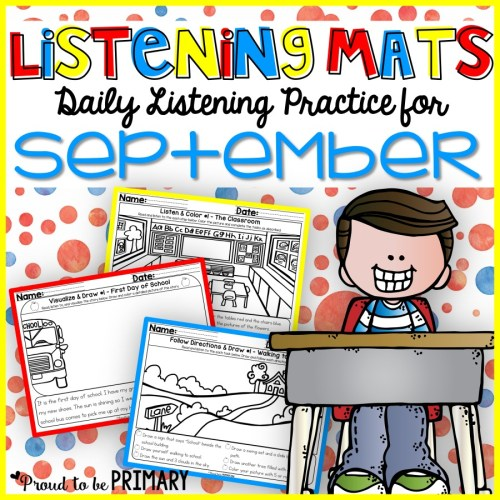 Listening Mats for September by Proud to be Primary