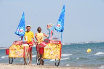 Ice cream on the beach La Grande Motte