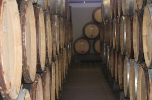 some of the 400 or so barrels in the cave justoutside Lourmarin