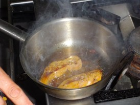 cooking the foie gras