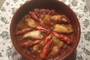 Provence Food - Squid and Crayfish sauce