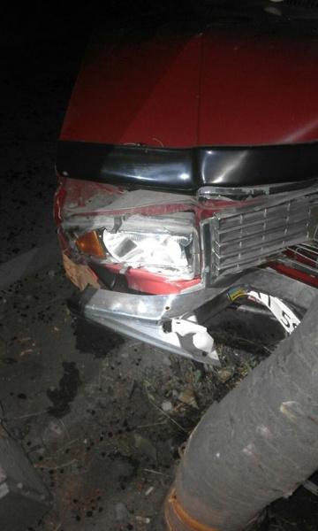 Патрульні оштрафували нетверезого водія, який заїхав у стовп
