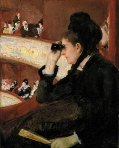 《桟敷席にて》1878年、 油彩・カンヴァス、81.3×66.0cm、ボストン美術館蔵 The Hayden Collection―Charles Henry Hayden Fund, 10.35. Photography (C)2015 Museum of Fine Arts, Boston