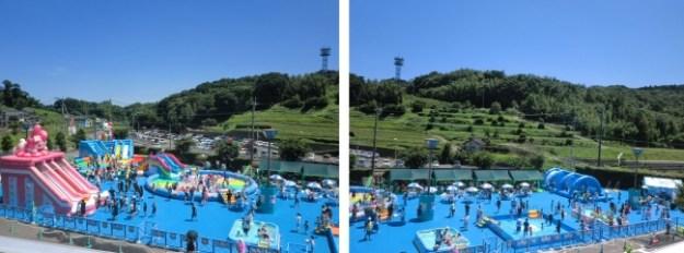 広さ3,500m2 以上のエリアには楽しい水遊びアイテムがいっぱい!