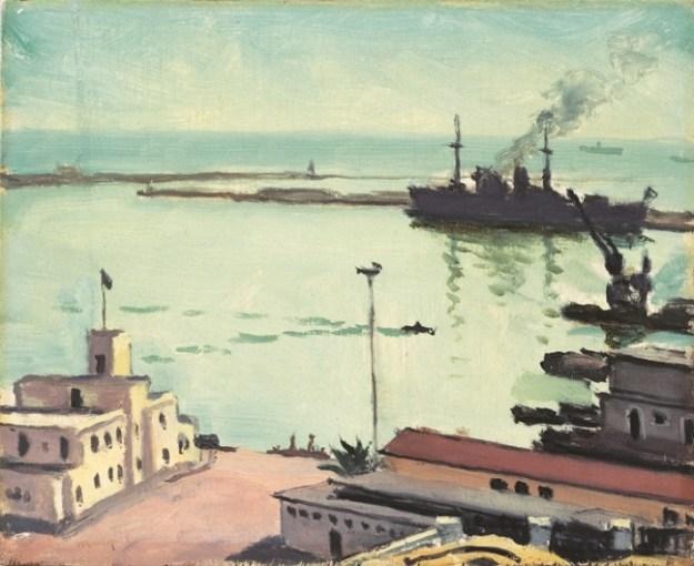 アルベール・マルケ《アルジェの港、ル・シャンポリオン》(ヤマザキマザック美術館)