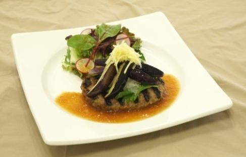 茄子と生姜のさっぱりおろしハンバーグ(ハンバーグ&ステーキ 太陽のグリル)