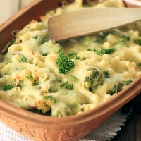 Zapiekany brokuł z serem