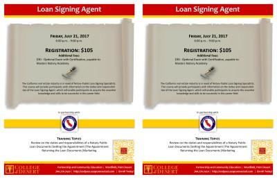 Loan Signing Specialists, CA Notary Public Seminar | Palm Springs Chamber