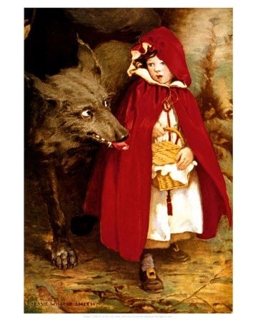 Red riding hood and the wolf as psychopath predator and victim