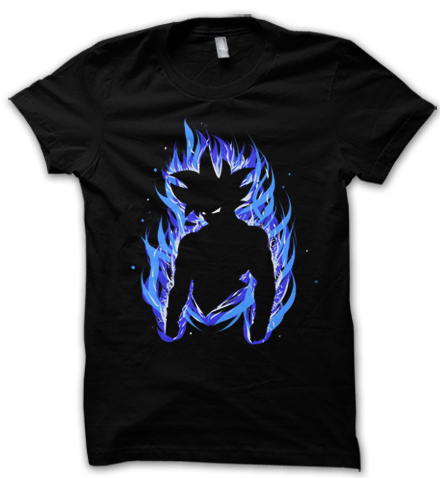 Achieve that unbeatable ultra instinct state with this insane dragon ball super inspired goku ultra instinct t shirt.