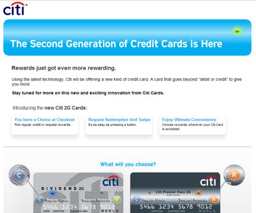 Citi 2G Credit Card