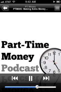 Part-Time Money Podcast on iPhone