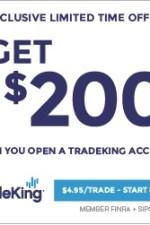 TradeKing $200 Cash Bonus for New Accounts