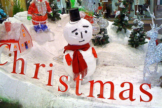 Sad Frosty at Christmas