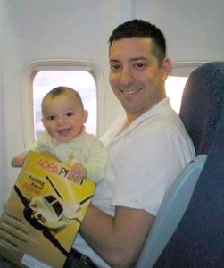 Jason Steele Flying with Daughter
