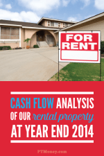 The Cash Flow Analysis for Our Rental Property at Year End 2014