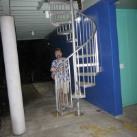 Me & spiral stairs 040