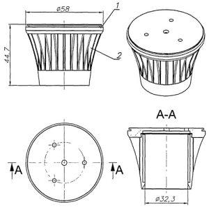 Российская разработка алюминиевого радиатора для светодиодной лампочки