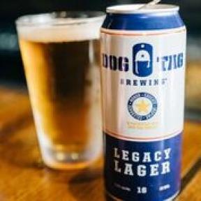 Dog Tag legacy lager. Photo courtesy of Leslie Chou