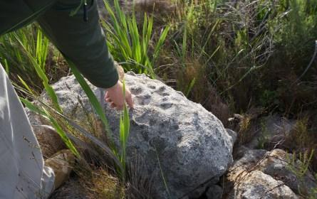 Cross carved in granite