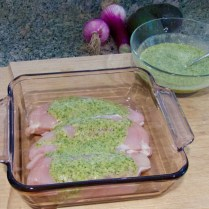 Chicken breasts with marinade