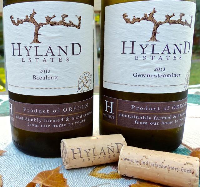 Hyland Estates Riesling and Gewurztraminer