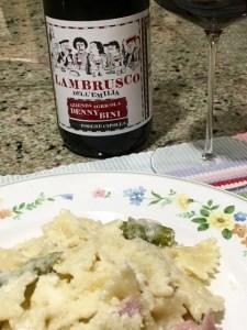 Lambrusco-pasta