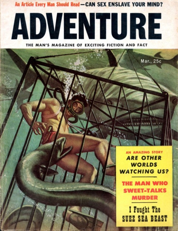 21199932-Adventure - 1957 03 March - Cover By Mort Kunstler as Emmett Kaye