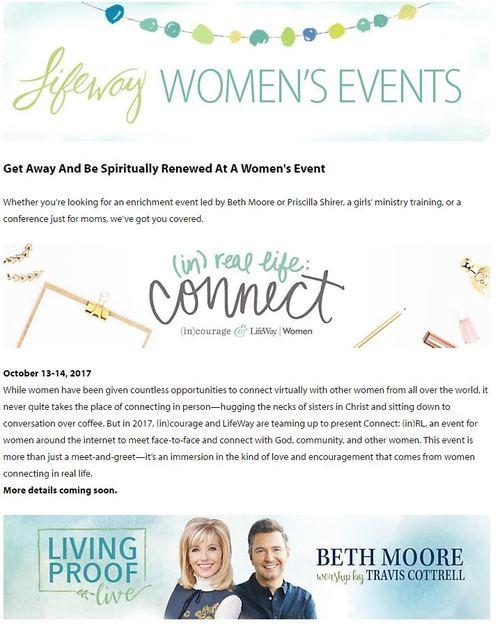 Lifeway women's event