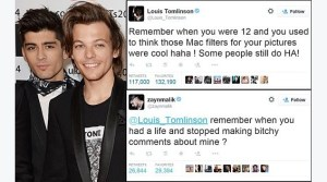 1D's Louis Tomlinson And Zayn Malik Twitter Feud Is Blowing Up Big Time
