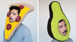 This Lonely Guy Crochets Hilarious Food Hats To Make Friends
