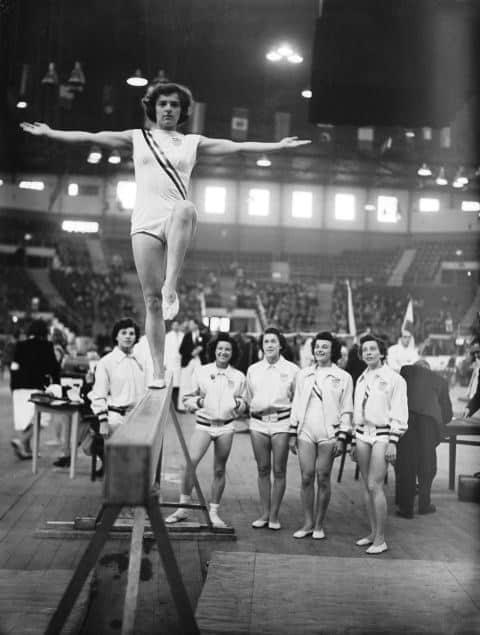 1950's Walk on a Gymnastics Balance Beam | Gymnastics Evolution