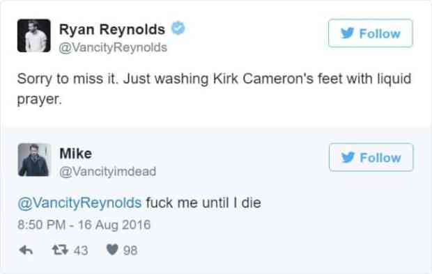 57bd1bc4ecf38 - Ryan Reynolds' Ãœber Polite Responses To Horny Fan Tweets Are The Funniest Thing Ever