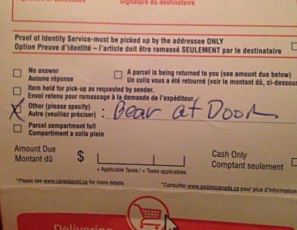 Reason For Non-delivery...