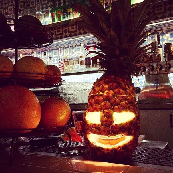 57fb3fd13d387 - Forget Pumpkins, Pineapple Jack O' Lanterns Are The Latest Hallowe'en Trend