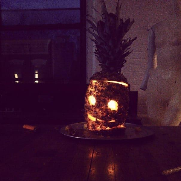 57fb4004c712f - Forget Pumpkins, Pineapple Jack O' Lanterns Are The Latest Hallowe'en Trend