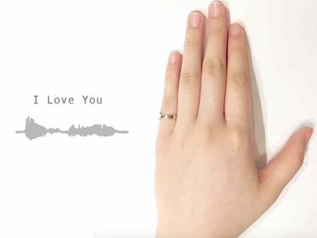 voicering4 - Designers Transform Loved One's Voices Into Custom Sound Wave Rings