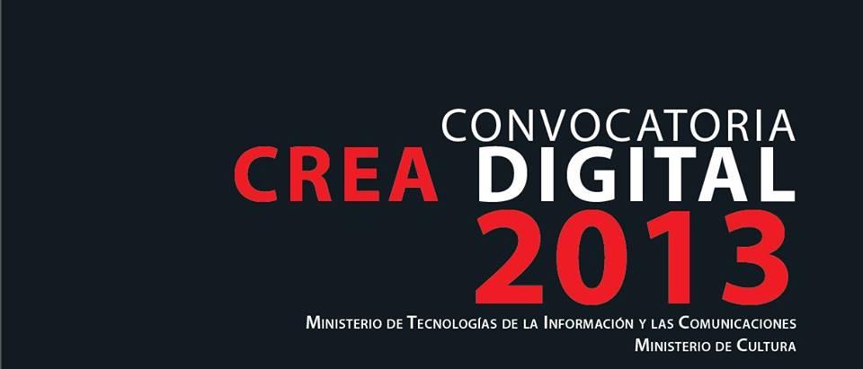Convocatoria Crea Digital 2013