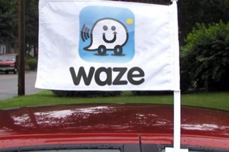 Waze car flag