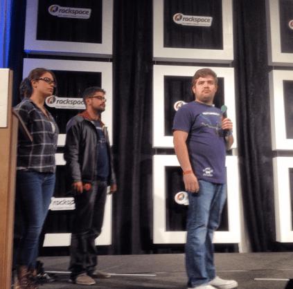 Bridgefy presentándose en la semi-final de StartupBus.