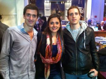 Thomas Allier, Catalina Jaramillo y Josian Chevallier, parte del equipo de Viajala.